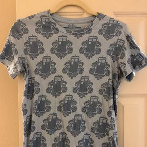 Threadless Tardis Damask T-Shirt, Doctor Who, L